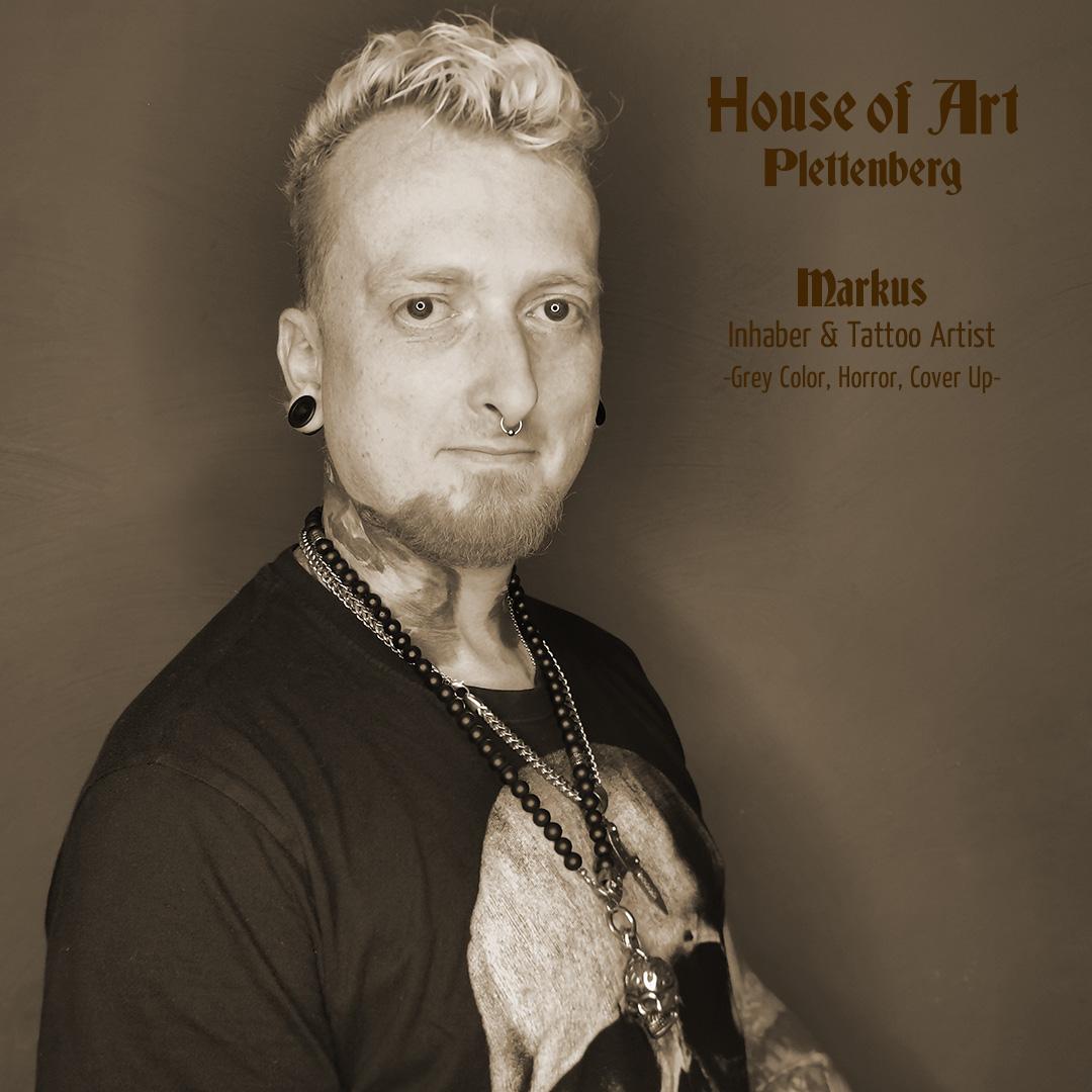 Markus Seegert - Geschäftsinhaber und Tattooartist im House of Art Plettenberg