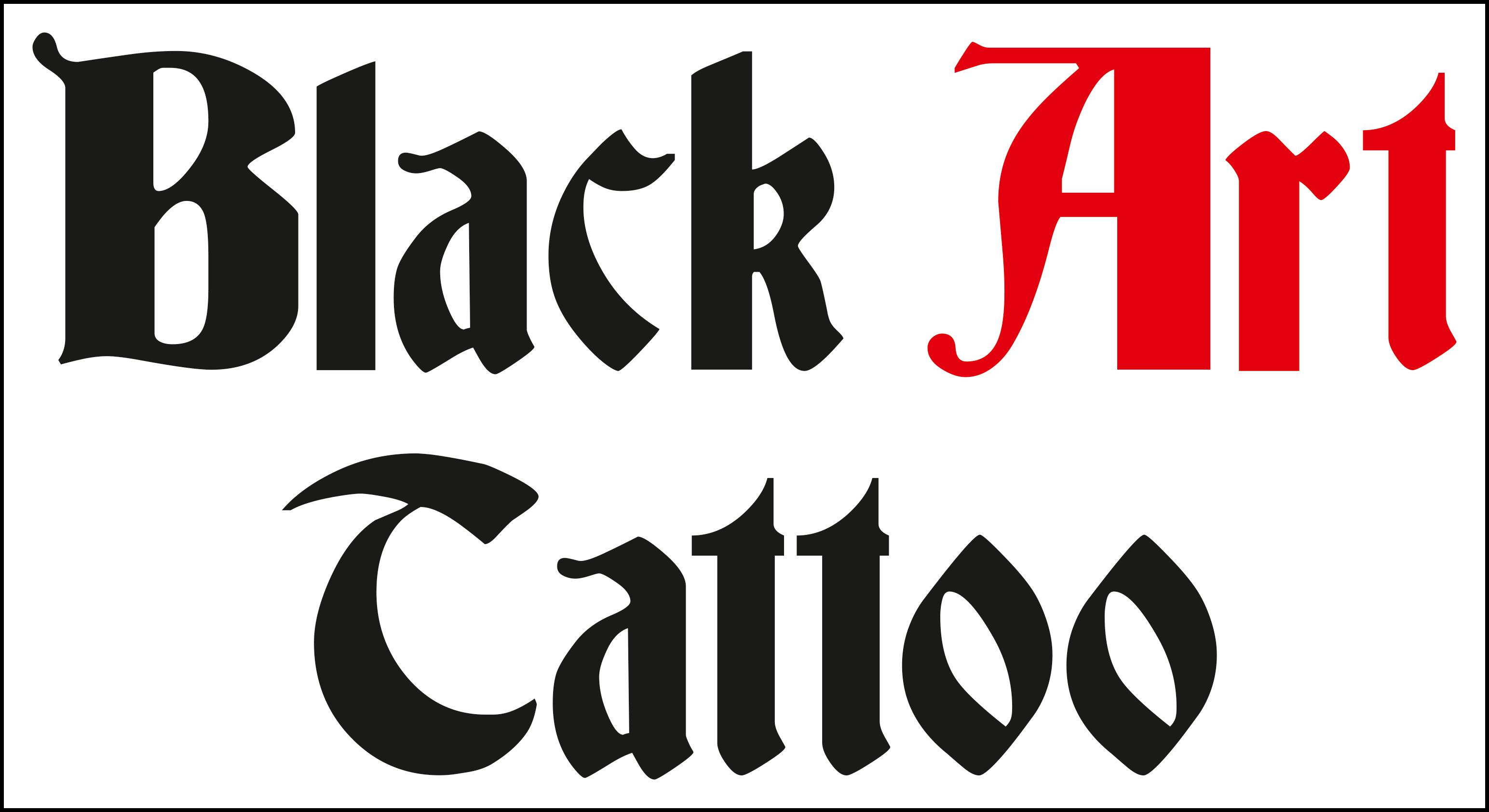 Black-Art-Tatoo-Logo im House of Art Plettenberg